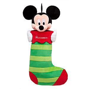 Mickey Mouse Plush Stocking - Holiday - Personalizable