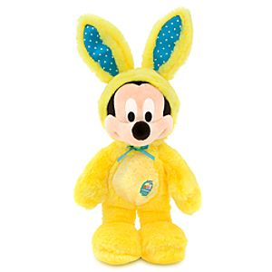 Mickey Mouse Plush Bunny - 17 - Yellow