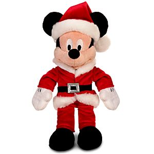 Mini Bean Bag Santa Claus Mickey Mouse Plush Toy -- 10 H