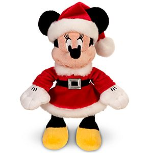 Mini Bean Bag Mrs. Claus Minnie Mouse Plush Toy -- 10 H