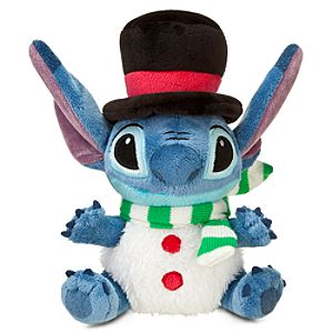 Mini Bean Bag Snowman Stitch Plush Toy -- 8 H