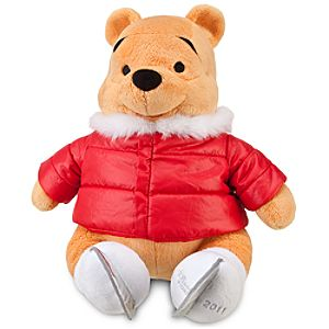 2011 Ice Skating Pooh Plush Toy -- 18 H