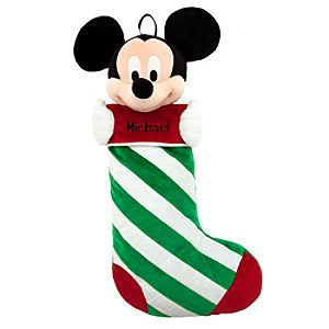 Mickey Mouse Plush Stocking - Holiday - Personalizable - 23