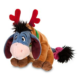 Mini Bean Bag Santas Reindeer Eeyore Plush Toy -- 7 H