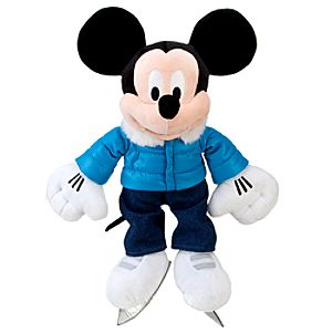 2011 Ice Skating Mickey Mouse Plush Toy -- 19 H