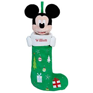 Personalizable Plush Mickey Mouse Stocking -- 24 H
