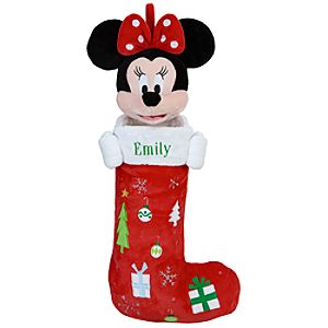 Personalizable Plush Minnie Mouse Stocking -- 24 H