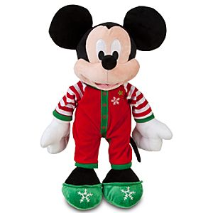 2011 Share the Magic Holiday Pajamas Mickey Mouse Plush Toy -- 13 H