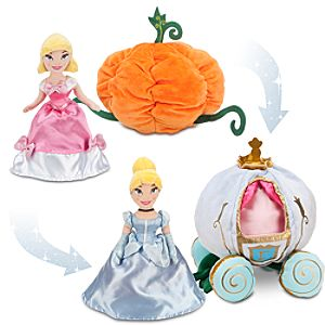 Transforming Plush Cinderella Doll and Pumpkin Coach Set -- 11 1/2 H