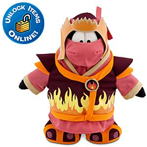 Club Penguin Fire Ninja Penguin Plush Toy -- 9 H