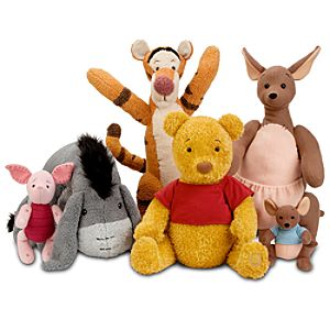 Limited Edition Winnie the Pooh Plush Set in Canvas Duffel Bag -- 6-Pc.