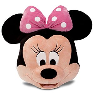 Minnie Mouse Plush Head Cushion Pillow -- 16 H