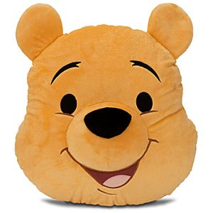 Winnie the Pooh Plush Head Cushion Pillow -- 15 H