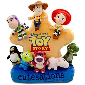 Cutesations Toy Story Series Plush Set of 8 with Plush Sheriff Badge