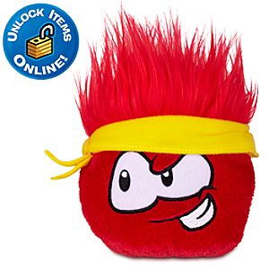 Club Penguin Red Pet Puffle Plush -- 4 H