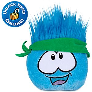 Club Penguin Blue Pet Puffle Plush -- 4 H