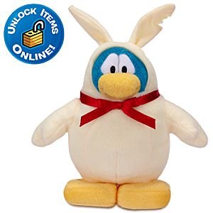 Club Penguin Chocolate Bunny Penguin Plush Toy -- 6 H