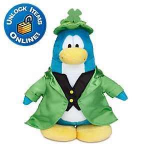 Club Penguin Leprechaun Penguin Plush Toy -- 6 H