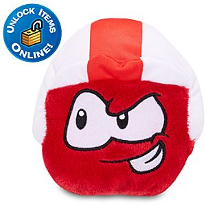 Club Penguin Red Pet Puffle Plush with Blast Off Cap -- 4 H