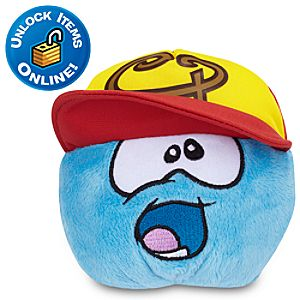 Club Penguin Blue Pet Puffle Plush with Swing Batta Batta Hat -- 4