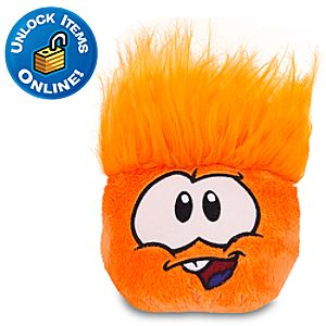 Club Penguin Orange Pet Puffle Plush with The Workout Curl Hair - 4