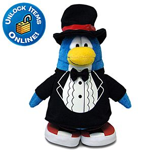 Club Penguin Classy T-Shirt Limited Edition Penguin Plush Toy --  6 H