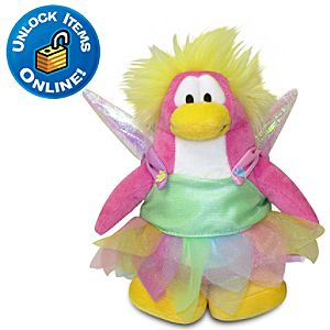 Club Penguin Faery (Semi Rare) Limited Edition Penguin Plush Toy -- 6 H
