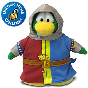 Club Penguin Squire Limited Edition Penguin Plush Toy -- 6 H