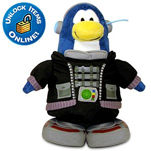Club Penguin Tactical Agent Limited Edition Penguin Plush -- 6 H