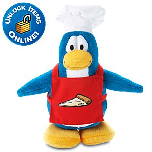 Club Penguin Pizza Chef Penguin Plush -- 6 H