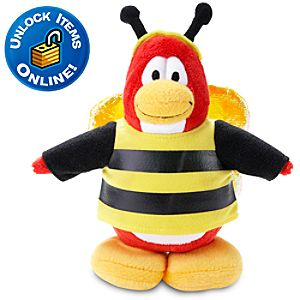Club Penguin Bumble Bee Penguin Plush Toy -- 6 H