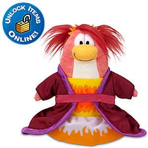 Club Penguin Phoenix Dress Penguin Plush Toy -- 6 H