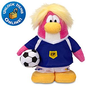 Club Penguin Soccer Girl Penguin Plush -- 6 H