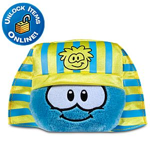 Club Penguin Blue Pet Puffle with Pharaoh Hat -- 3 H