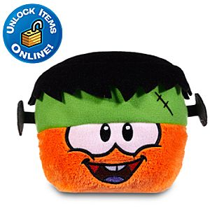 Club Penguin Orange Pet Puffle with Franken Hat -- 3 H