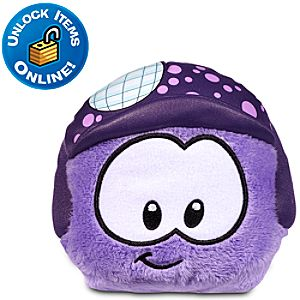 Club Penguin Purple Pet Puffle Plush with Disco Hat -- 4 H
