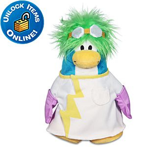 Club Penguin Rad Scientist Penguin Plush Toy -- 6 H