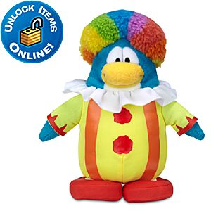 Club Penguin Clown Penguin Plush Toy -- 6
