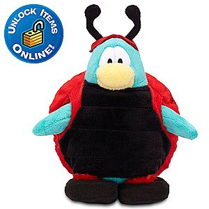 Club Penguin Ladybug Penguin Plush Toy -- 6