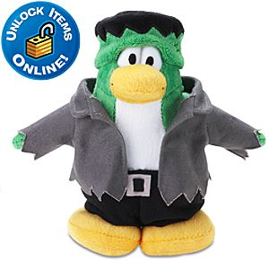 Club Penguin Frankenpenguin Plush Toy -- 6 H