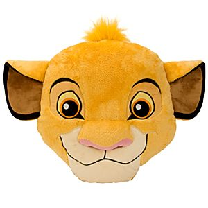 Simba Plush Head Cushion Pillow -- 15 H