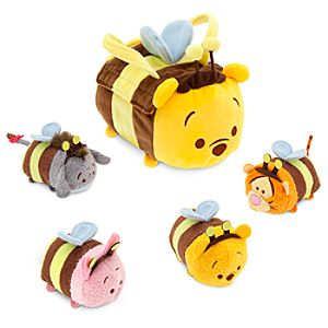 Winnie the Pooh Tsum Tsum Plush Set - Small Bag - 8 - Plus 4 Minis - 3 1/2