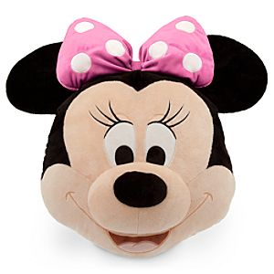 Minnie Mouse Plush Pillow - Pink - 16