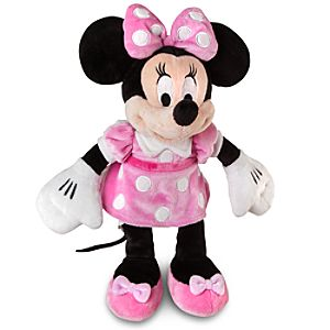 Small Minnie Mouse Plush -- 12 H -- Pink Dress
