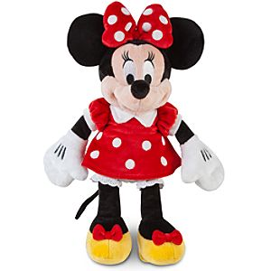 Small Minnie Mouse Plush -- 12 H -- Red Dress