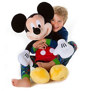 Large Mickey Mouse Plush Toy -- 25 H
