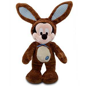 Scented Easter Bunny Mickey Mouse Plush -- 14