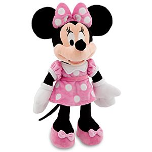 Minnie Mouse Plush - Pink Dress -- 19 H