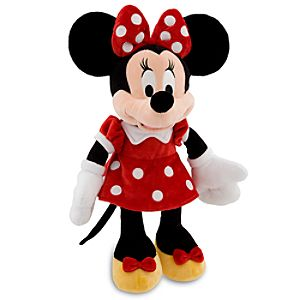 Minnie Mouse Plush - Red Dress -- 19 H