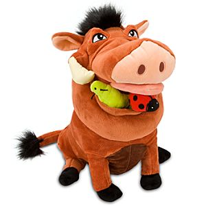 The Lion King Pumbaa Plush Toy -- 14 H